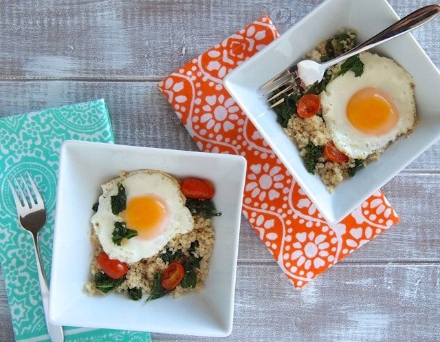 Egg Kale  Quinoa Breakfast Bowl