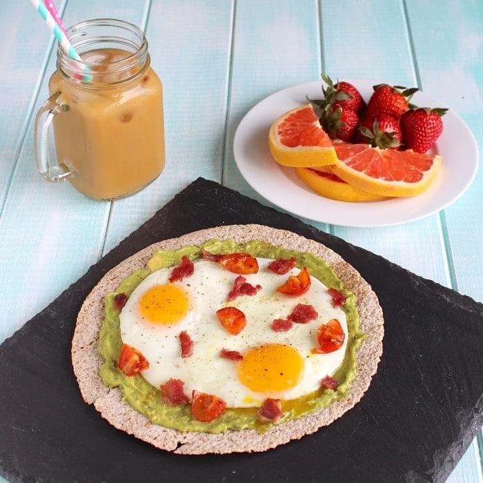 Egg & Avocado Breakfast Pizza