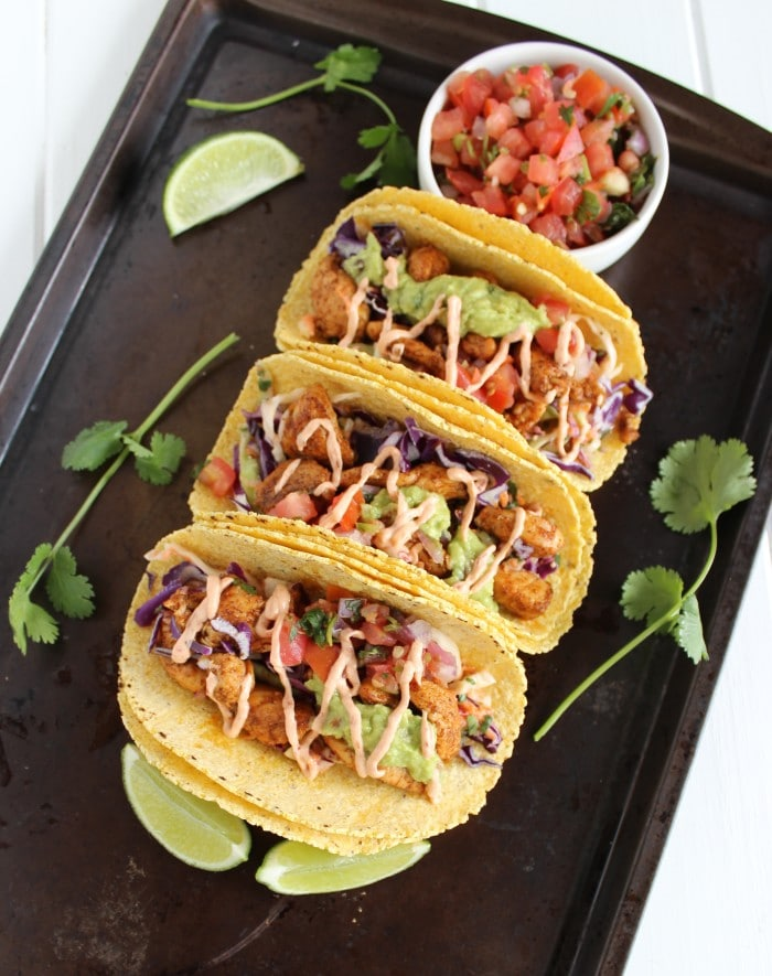Food 1 2016 4 5 Chicken Tacos >> Skinny Baja Chicken Tacos The Live Fit Girls