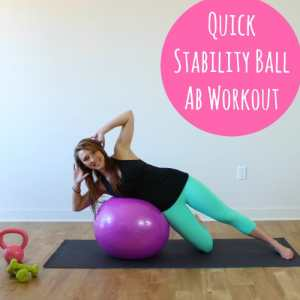Quick Stability Ball Ab Workout