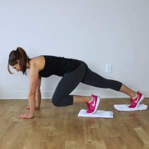 Lower Body Towel Workout