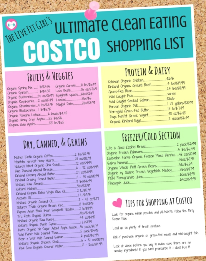 The Ultimate Clean Eating COSTCO List