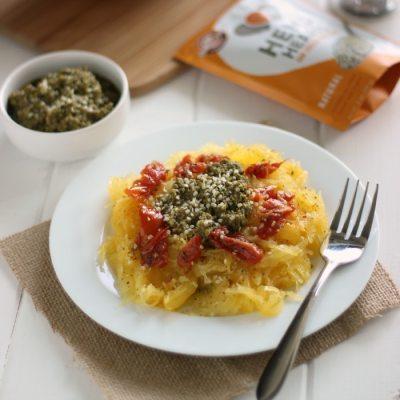 Spaghetti Squash With Vegan Pesto & Sun-Dried Tomatoes