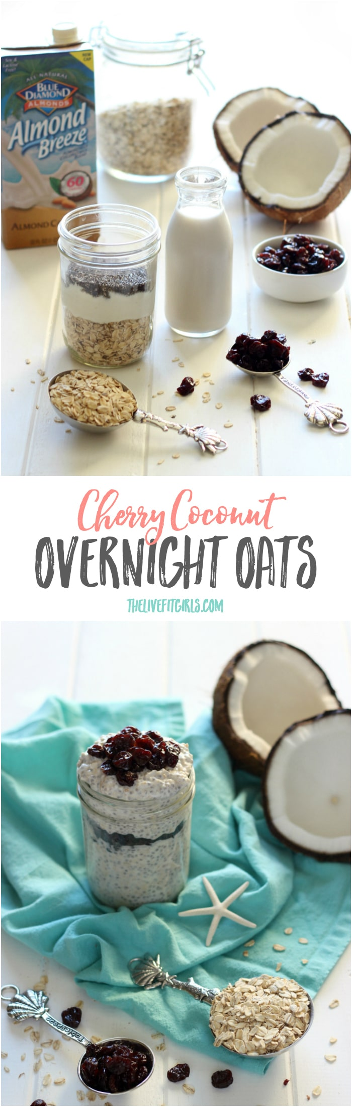 Cherry Coconut Overnight Oats Pin