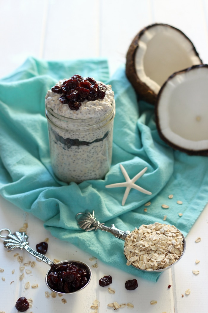 Coconut Cherry Overnight Oats