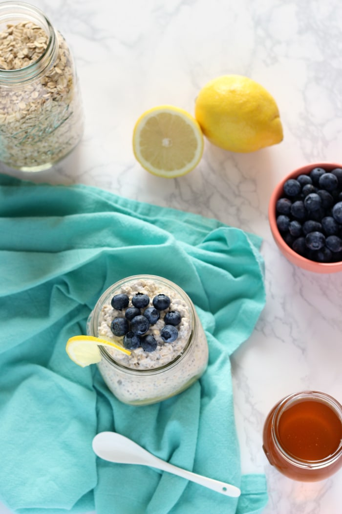 Lemon Blueberry Oats