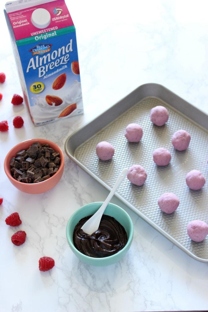 Frozen Raspberry Truffles