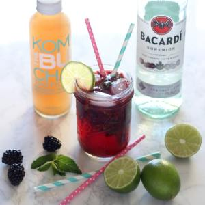 Blackberry Mint Kombucha Mojito