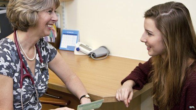 Doctor's appointment with young woman