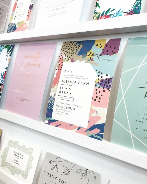 beautiful designs from Luna June wedding stationery