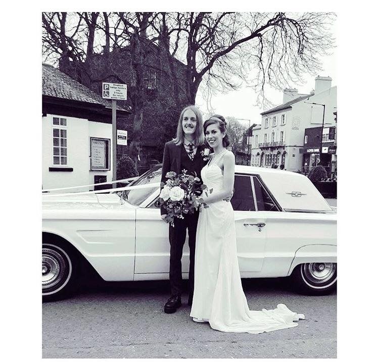 Melissa and Michael at their wedding in Woolton Village