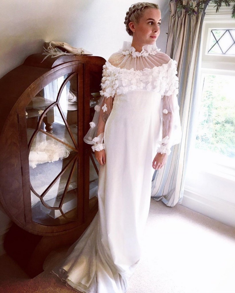 Vintage wedding dress by Sixpenny Bride