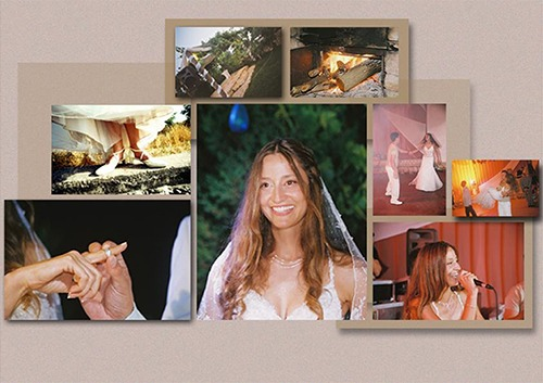Example wedding album layout