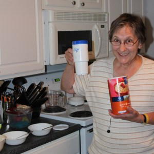 Mom with oatmeal