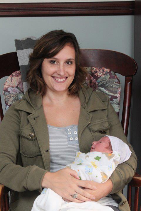 Aunt Vanessa with baby Leo