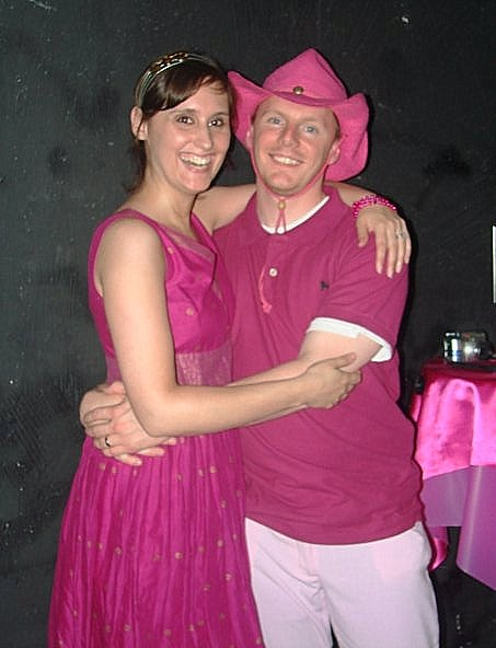 "2008 at the ""Pink Party"" to celebrate the end of V's cancer treatments (from first diagnosis) - picture by Jenni Thomas"