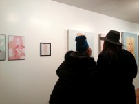 Checking out some pieces by Kristen Bisson and David Aronson