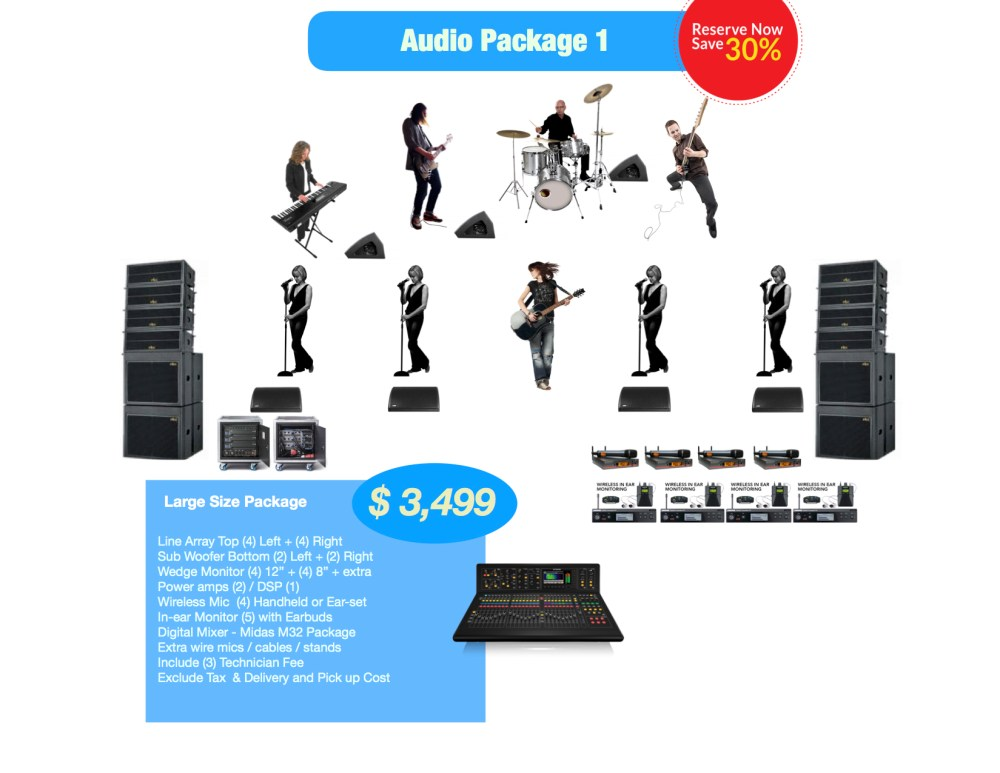 large Audio rental package