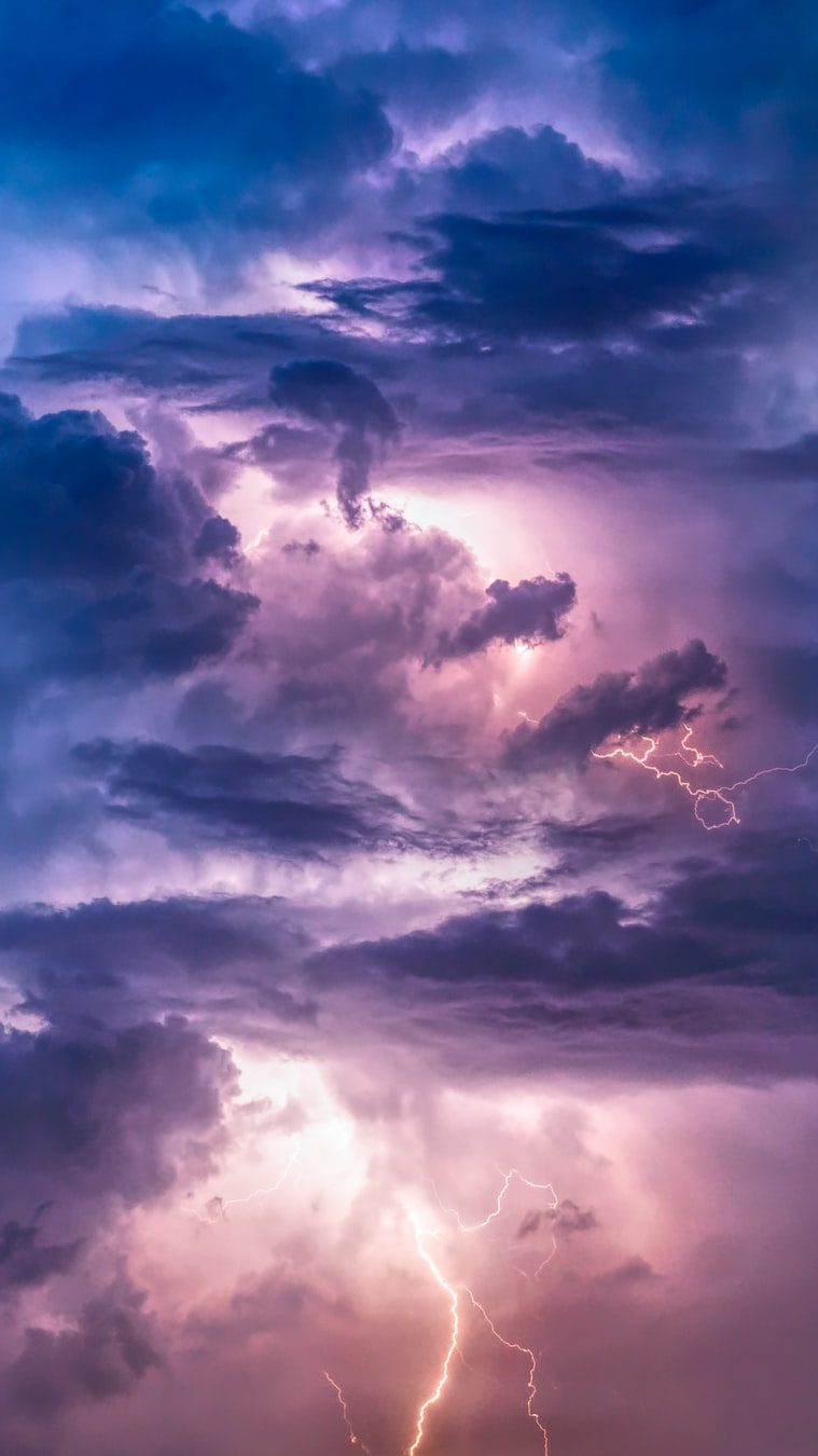 Angry clouds and lightning