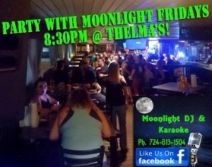 Karaoke with MOONLIGHT @ Thelma's On Deck