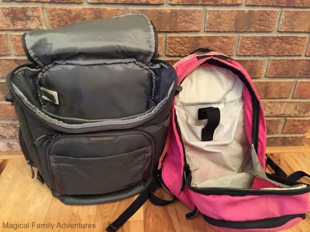 backpack open