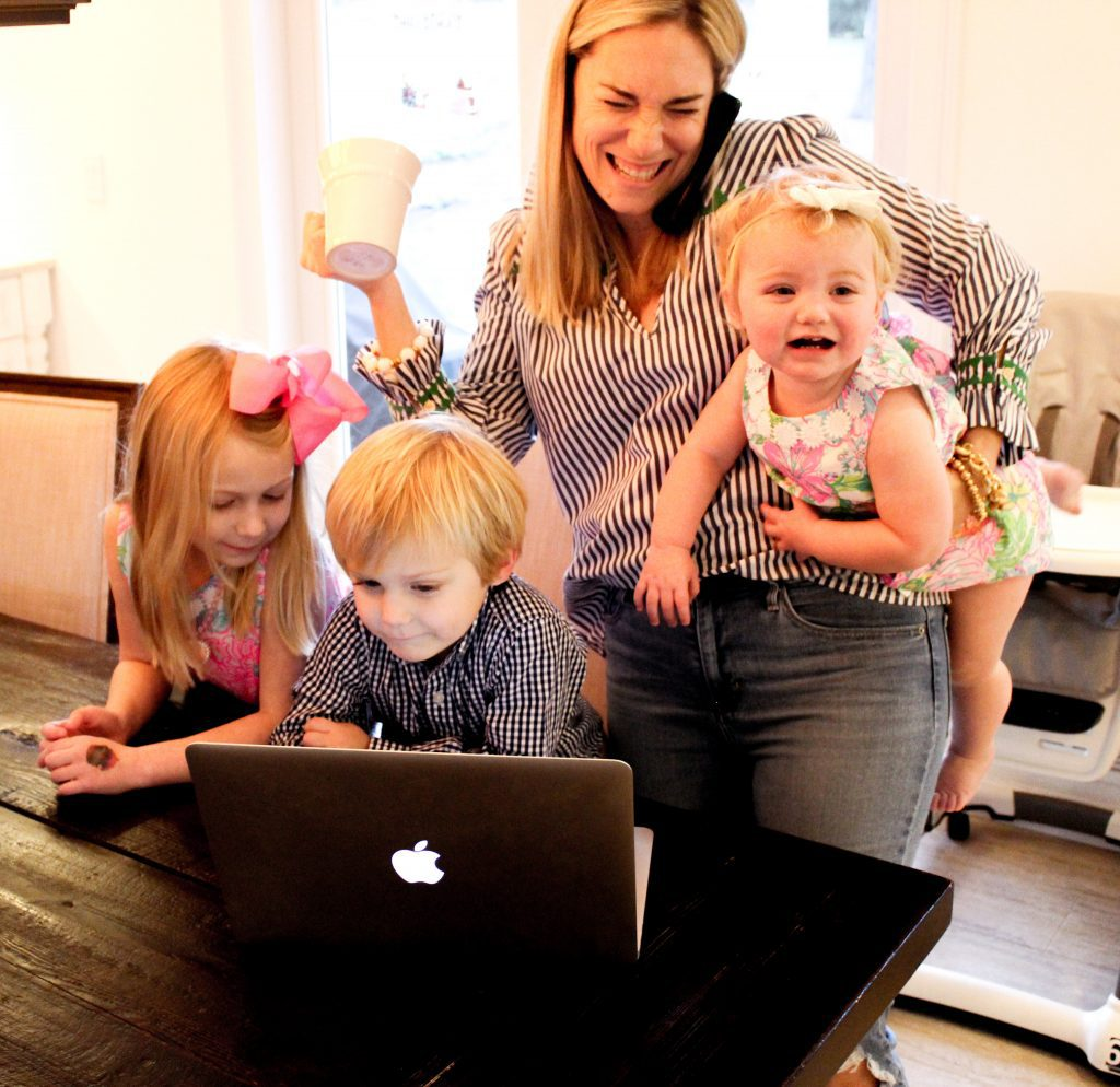 Busy working mom with 3 kids