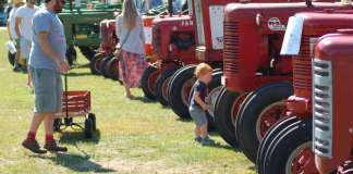 antique tractors rowley