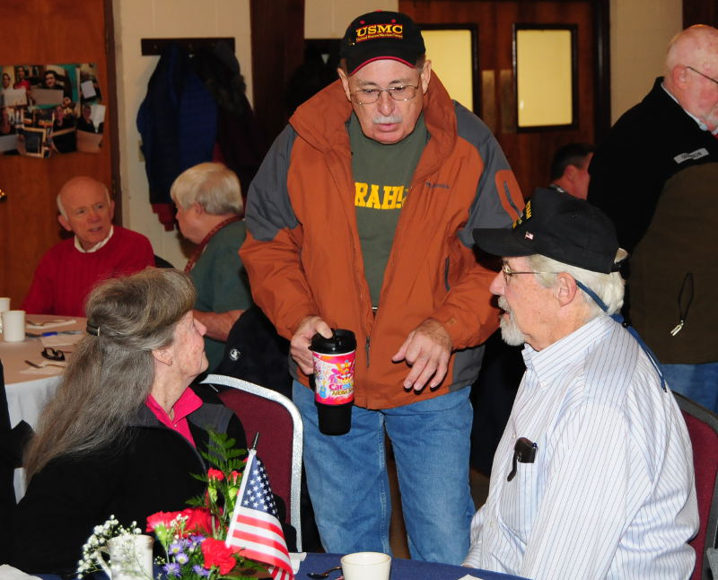 """As veterans sit down to breakfast, an empty chair will remember """"the missing man"""""""