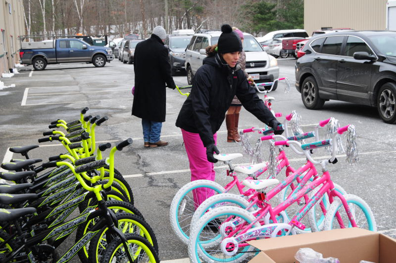 100 bikes given away