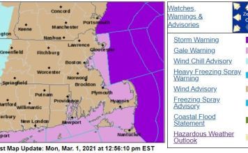Wind advisory issued and coastal flooding possible