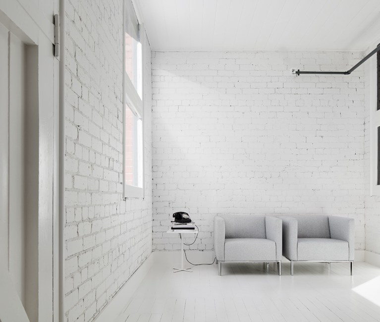 White Sofa Chair - CONNECTED Collection - Ross Didier - Heidelberg West, VIC, Melbourne - The Local Project