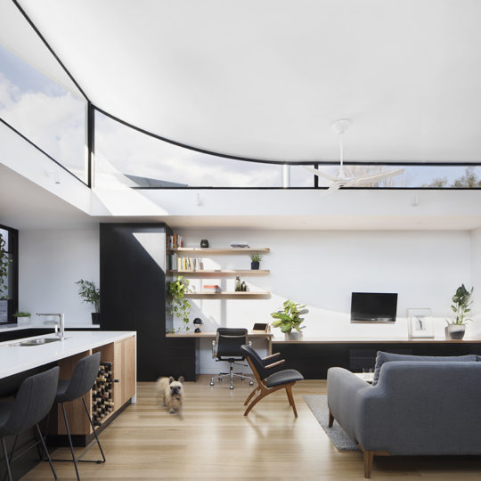 New concept architecture in the Curvy House by Ben Callery Architects, Northcote, VIC
