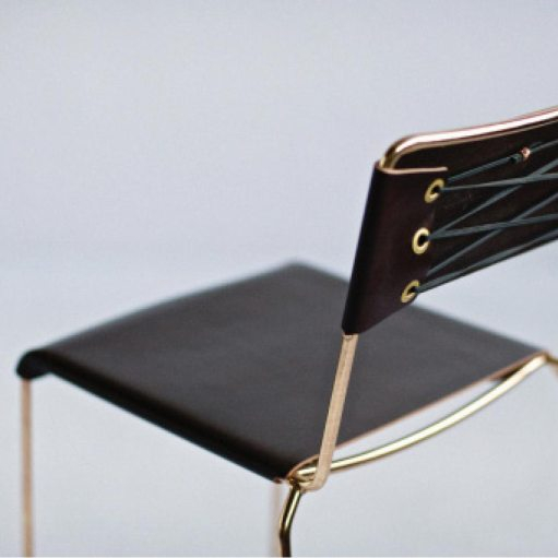 Uccio Seating Chair Design by Local Australian Designer BARBERA - Leather and Metal Chair