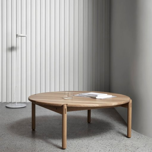 The AOC – T Round Timber Coffee Table is designed and made locally by Brunswick-based Victorian furniture designer Nick McDonald of Made by Morgen.