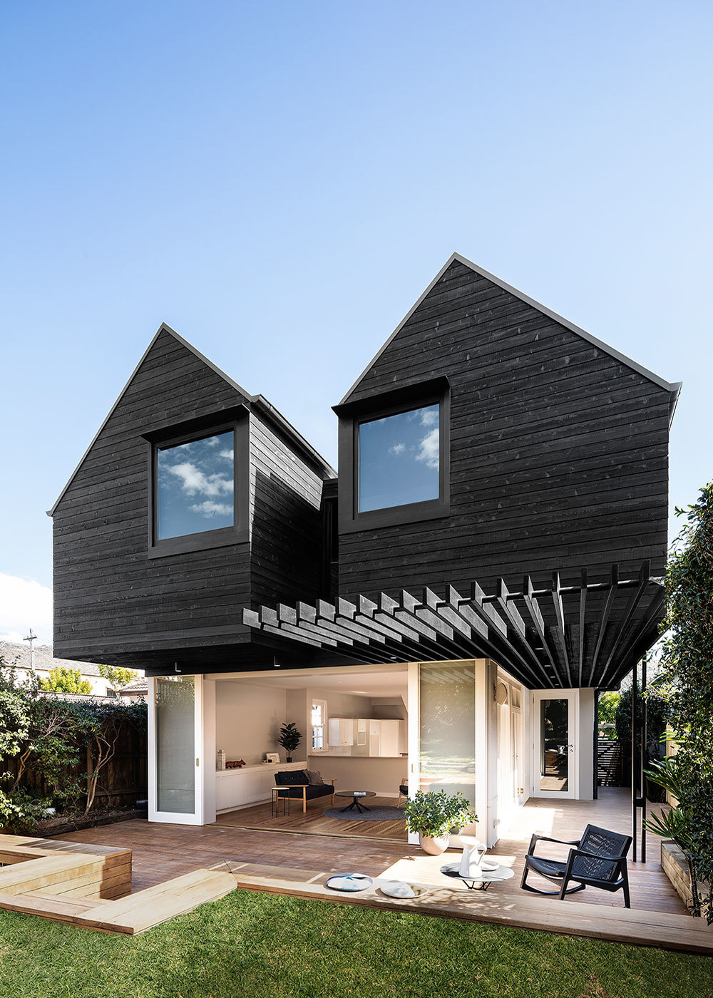 Twin Peaks by Benn and Penna - Japanese Timber Facade Burnt Wood