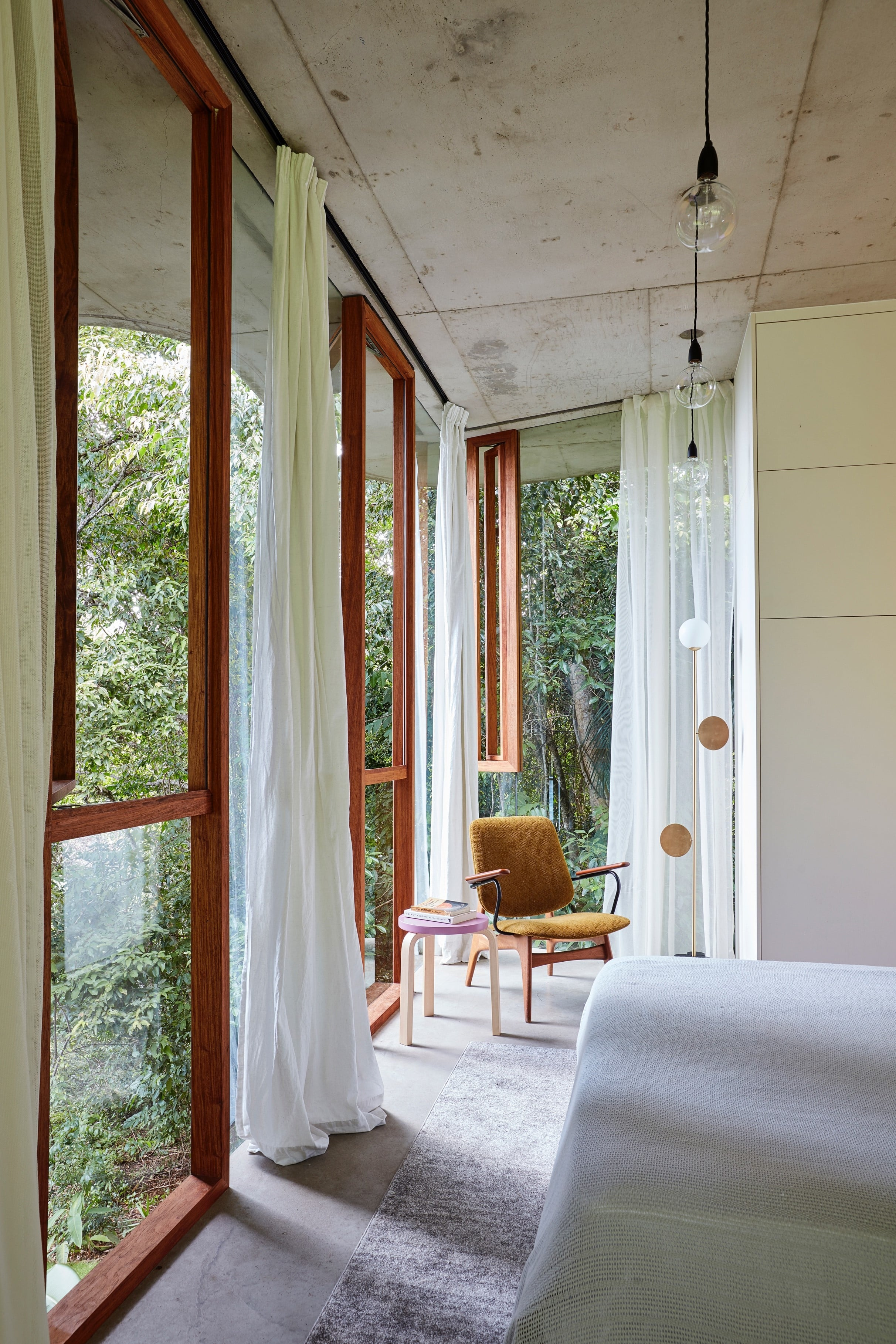 , The Use Of An External Courtyard Between The House And The Rainforest Provides Light And Ventilation