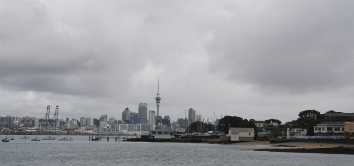 The views from Devonport are spectacular, even on a cloudy day