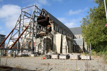 The heartbreaking site of the damaged Christchurch Cathedral