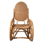 Vintage Mid Century Modern Thonet Style Cane Bentwood Rocking Chair The Local Vault