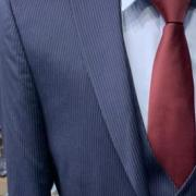 suit sale Navy Blue Stripped