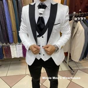Black and White Men's wedding suit Kenya