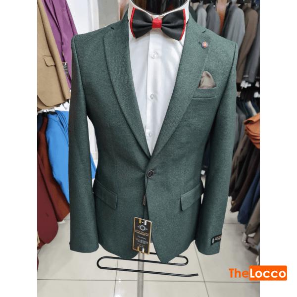 Jungle Green Woollen Men Blazer Jacket Nairobi
