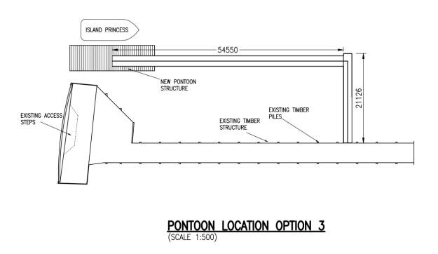 The third option for the Kilcreggan pontoons