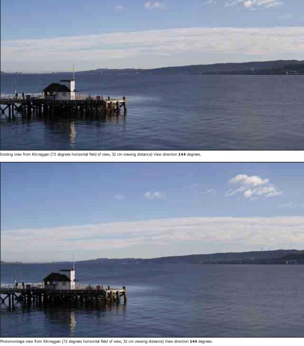 The potential view from Kilcreggan pier
