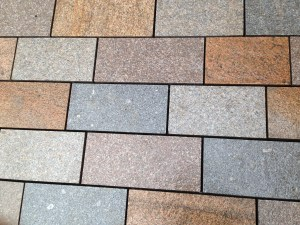 New-look granite paving is being fitted