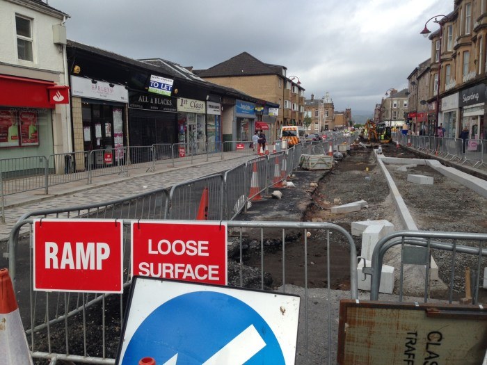 Bumpy ride: West Princes Street is still affected by roadworks.