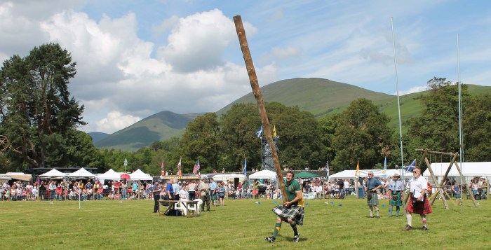 High hopes - the caber event at the 2012 event.