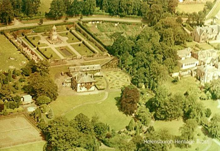 The view from above - an aerial picture of Hermitage Park, courtesy of Helensburgh Heritage Trust.