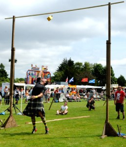 Aiming high: action at last year's Highland Games.