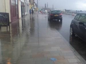 Under water: West Clyde Street last Saturday night